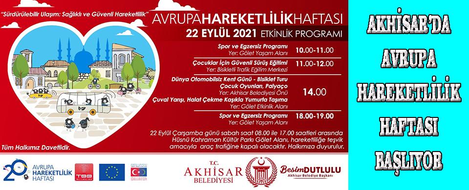 Akhisar'da Avrupa Hareketlilik Haftası başlıyor
