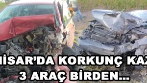 Akhisar'da Korkunç Kaza ! 3 Araç Birden…