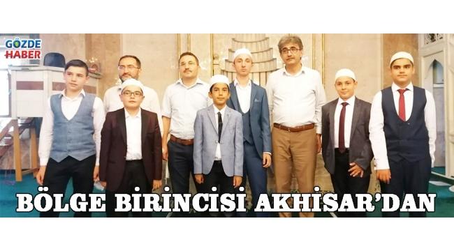 BÖLGE BİRİNCİSİ AKHİSAR'DAN!
