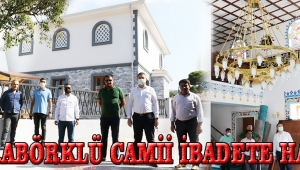 Karabörklü Camii İbadete Hazır