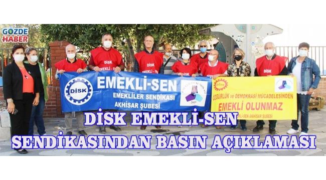 DİSK EMEKLİ-SEN SENDİKASINDAN BASIN AÇIKLAMASI!