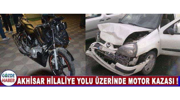 Akhisar Hilaliye Yolu Üzerinde Motor Kazası !
