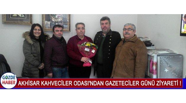 Akhisar Kahveciler Odası'ndan Gazeteciler Günü Ziyareti