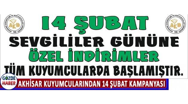 Akhisar Kuyumcularından 14 Şubat Kampanyası