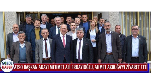 Akhisar Ticaret Ve Sanayi Odası Başkan Adayı Mehmet Ali Erdayıoğlu, Ahmet Akbuğa'yı Ziyaret Etti