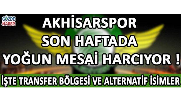 Akhisarspor Son Haftada Yoğun Mesai Harcıyor !