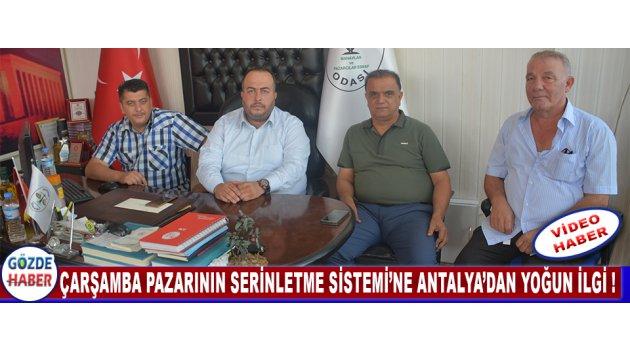 Çarşamba Pazarının Serinletme Sistemi'ne Antalya'dan Yoğun İlgi !