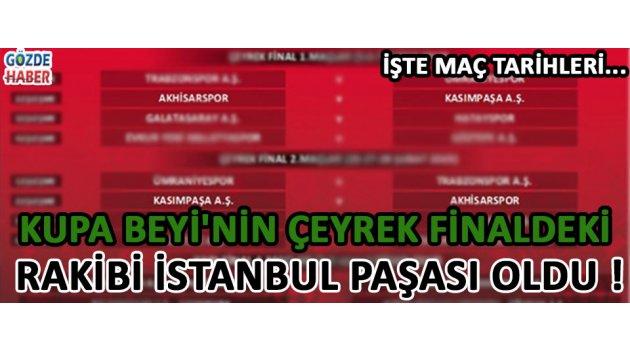 Kupa Beyi'nin Çeyrek Finaldeki Rakibi İstanbul Paşası Oldu !