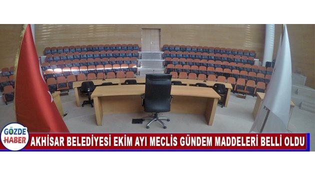 Akhisar Belediyesi 2017 Yılı Ekim Ayı Meclis Gündem Maddeleri Belli Oldu