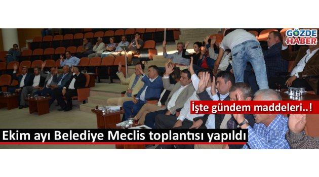Akhisar Belediyesi Ekim ayı meclisi yapıldı