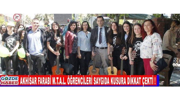 Akhisar Farabi M.T.A.L Öğrencileri Saygıda Kusura Dikkat Çekti !