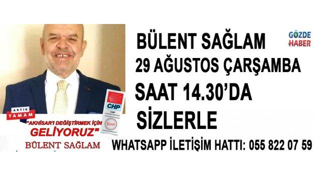 Akhisar Gözde Tv'de yeni konuk Akhisar Chp Belediye  Başkan Aday Adayı Bülent Sağlam !