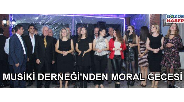 Akhisar Musiki derneği moral gecesinde buluştu