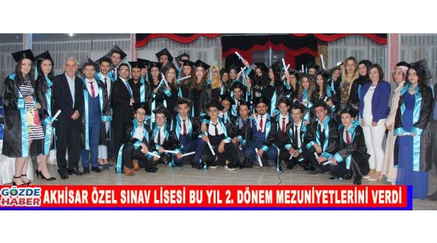 Akhisar Özel Sınav Lisesi  Bu Yıl 2. Dönem Mezuniyetlerini Verdi.