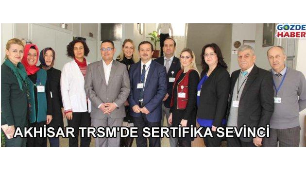 Akhisar TRSM'de sertifika sevinci