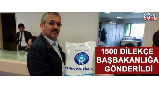 Akhisar Türk Eğitim-Sen Başbakanlığa 1500 dilekçe gönderdi
