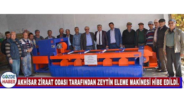 Akhisar Ziraat Odası Tarafından Zeytin Eleme Makinesi Hibe Edildi.