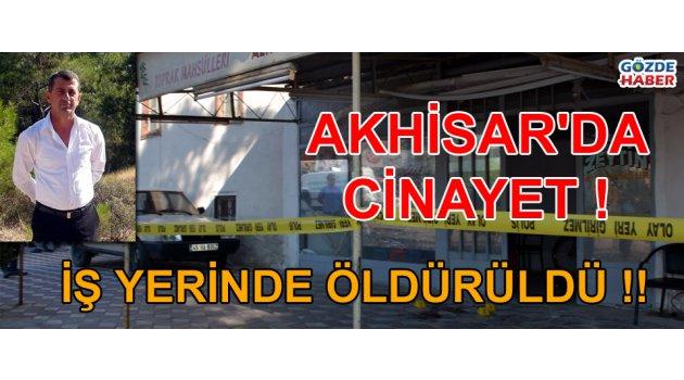Akhisar'da cinayet !