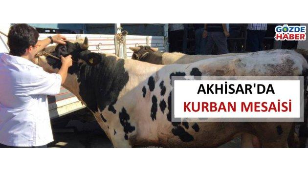 Akhisar'da kurban mesaisi