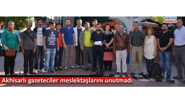 Akhisarlı gazeteciler meslektaşlarını unutmadı