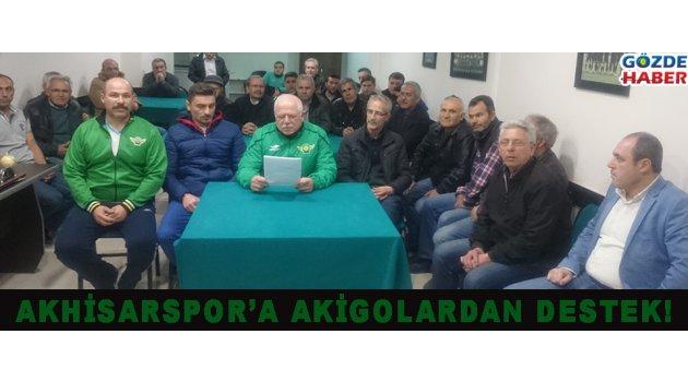 AKHİSARSPOR'A AKİGOLARDAN DESTEK!