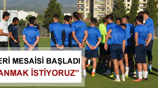 Akhisarspor'da Kayserispor mesaisi başladı