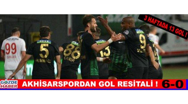 Akhisarspordan Gol Resitali ! 6-0