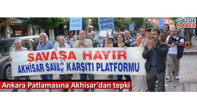 Ankara Patlamasına Akhisar'dan tepki