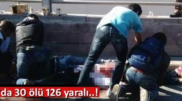 Ankara'da patlama çok sayıda ölü ve yaralılar var