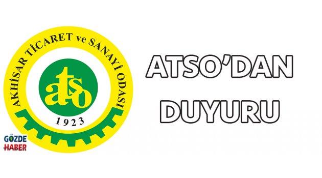 ATSO'DAN DUYURU