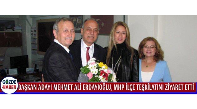 Başkan Adayı Mehmet Ali ERDAYIOĞLU, MHP İlçe Teşkilatını Ziyaret Etti