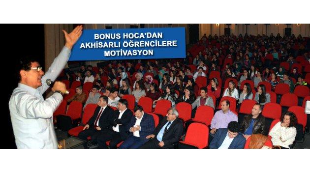 Bonus hoca'dan Akhisarlı öğrencilere motivasyon