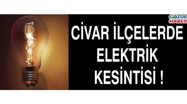 Civar İlçelerde Elektrik Kesintisi !