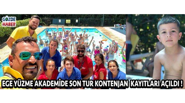 Ege Yüzme Akademide Son Tur Kontenjan  Kayıtları Açıldı !