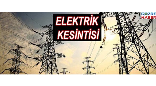Elektrik Kesintisi !