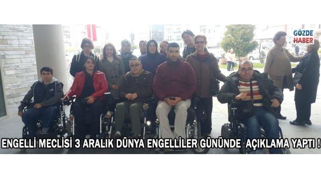 Engelli Meclisi 3 Aralık Dünya Engelliler Günü'nde Açıklama Yaptı
