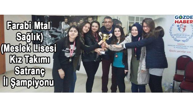 Farabi Mtal(Sağlık Meslek Lisesi) Kız Takımı Satranç İl Şampiyonu