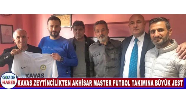 Kavas Zeytincilikten Akhisar Masterler Futbol Takımına Büyük Jest