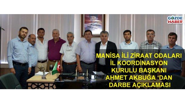 Manisa İli Ziraat Odaları İl Koordinasyon Kurulu Başkanı Ahmet Akbuğa 'dan Ortak Basın Açıklaması