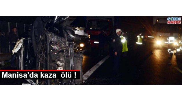 Manisa'da kaza 3 ölü