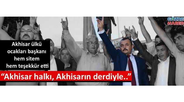 Mustafa Ulus hem sitem hem teşekkür etti