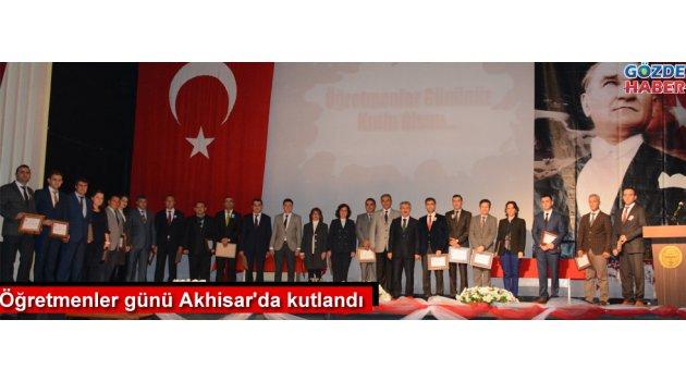 Öğretmenler günü Akhisar'da kutlandı