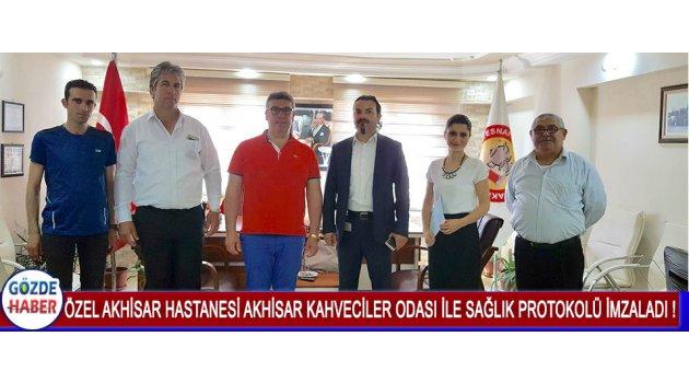 Özel Akhisar Hastanesi Akhisar Kahveciler Odası İle Sağlık Protokolü İmzaladı