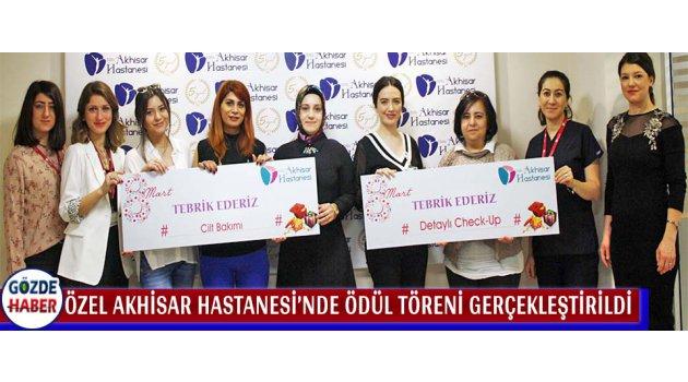 Özel Akhisar Hastanesi'nde Ödül Töreni Gerçekleştirildi