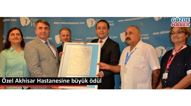 Özel Akhisar Hastanesine büyük ödül