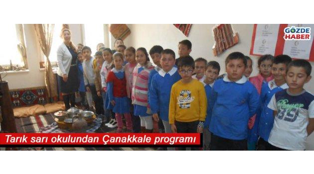 Tarık sarı okulundan Çanakkale programı
