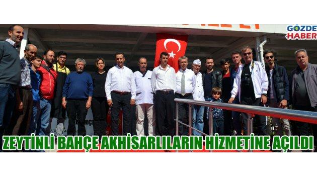 Zeytinli bahçe Akhisarlıların hizmetine açıldı