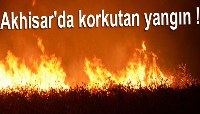 Akhisar'da korkutan yangın !