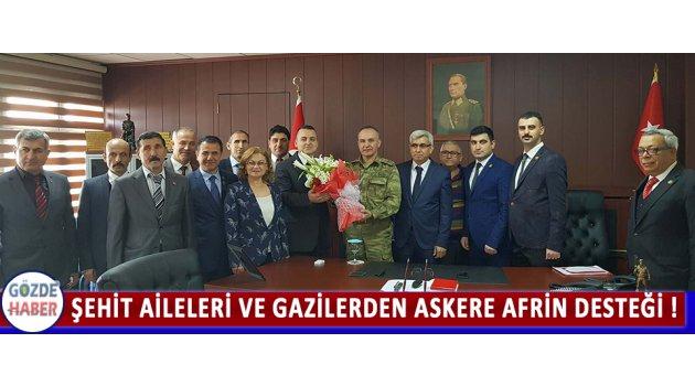 Şehit Aileleri Ve Gazilerden Askere Afrin Desteği !
