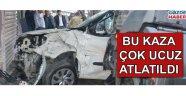 Akhisar'da feci kaza çok ucuz atlatıldı
